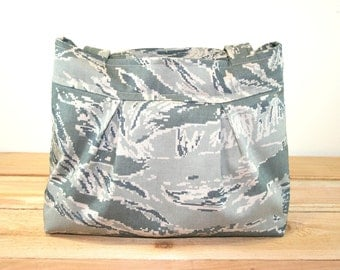 ABU Air Force Purse Tote Bag Military Digital Tiger Stripe Camo
