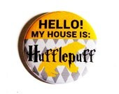 Harry Potter Pinback Buttons Geeky Accessories Hufflepuff Hogwarts Fandom Apparel