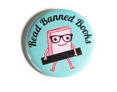 Pinback Buttons Banned Books Cute Nerdy Accessories Librarian Literature Badges