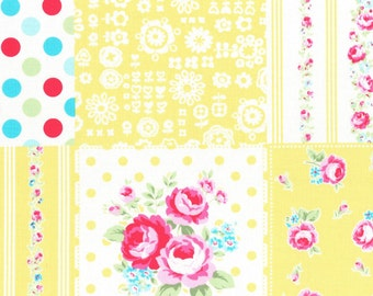 Yellow cheater patch from Flower Sugar Fall 2016 Sweet Carnival by Lecien of Japan 31376L-50