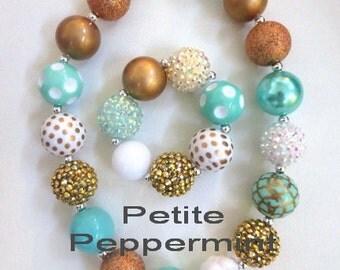 Little Girls Chunky Necklace, Girls Bubblegum Necklace, Girl Necklace Set, Toddler Necklace, Girl Jewelry, Girl Bracelet, Baby Necklace