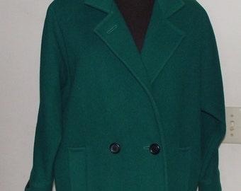 Lady's International Scene Irish Green Wool Jacket-Czechoslovakia-Size 7/8-Free Shipping