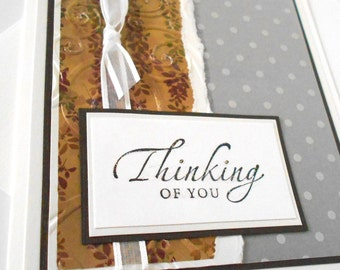 Thinking of You Greeting Cards:  Handmade Blank Note Card - Survivor