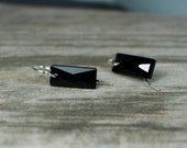 Swarovski Jet Black Earrings, Black Rectangle Earrings, Black Crystal Earrings, Black Baguette Earrings, Party Earrings, Ask Questions