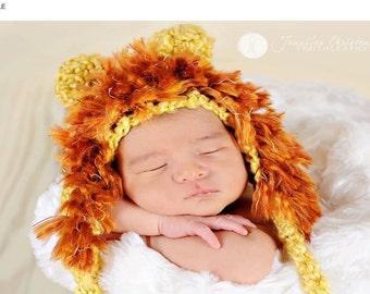 Summer SALE Lion crochet hat