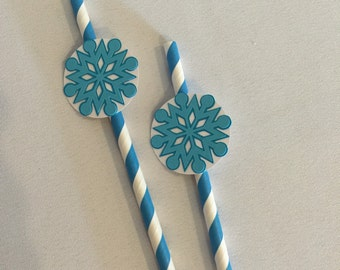 Frozen Party Decorations - Frozen Straw - Frozen Elsa Party Straw - Frozen Birthday Straws - Frozen Party Decor - Party Paper Straws