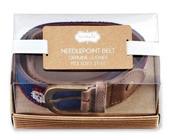 Christmas MudPie Belt, Needlepoint Belt, Toddler Belt, Toddler Christmas
