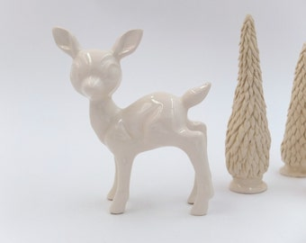 deer white ceramic figurine