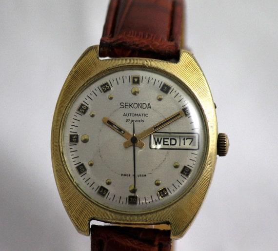 Часы наручные SEKONDA 26 jewels USSR Редкие!