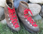 Vintage French Made VAL D'OR Hiking Boots - Mountaineering Boots - Mens Size 11