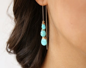 Turquoise Ear Threads