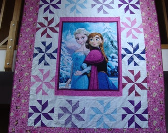 Made to Order Frozen Elsa and Anna Quilt Twin Size