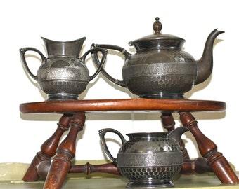 Simpson Hall Miller & Co. quadruple plate 2079 tea set