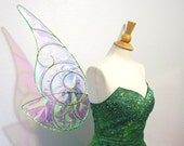 Tinkerbell Wings Dark Green Cosplay Costume Iridescent wings