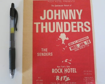 Rock Hotel show clipping Johnny thunders