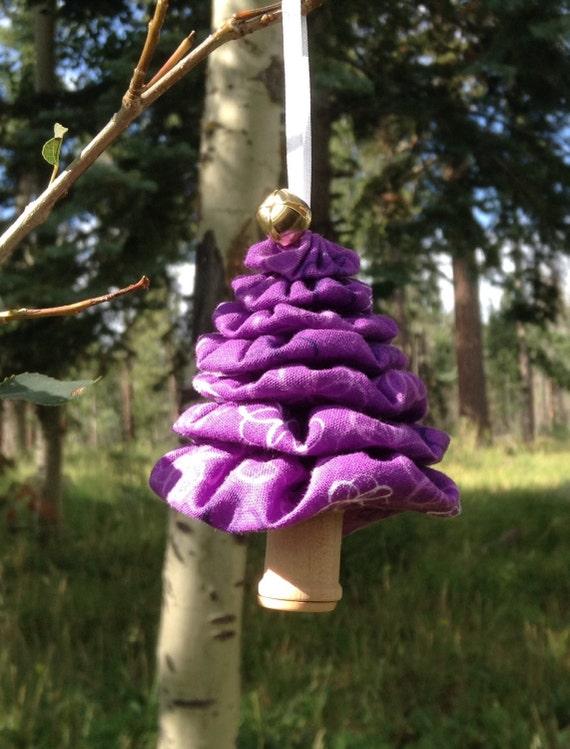 Christmas Tree Flower Power : Primitive purple flower power yo christmas tree ornament