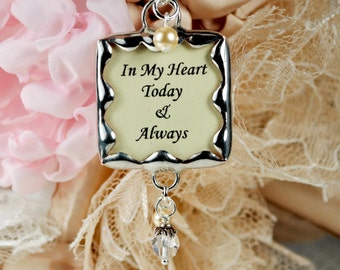 Wedding Bouquet Charm Bridal Bouquet Photo Charm Bridal Accessories