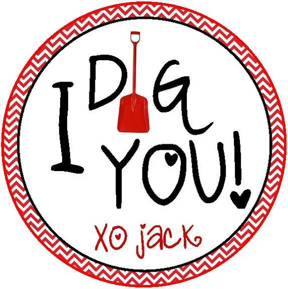 Dig you valentine printable tag personalized favor tag valentine