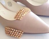 Aurora Borealis Rhinestone Shoe Clips by Musi