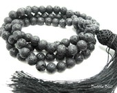 108 Bead Lava Rock Mala,  Necklace, Buddhism, Prayers, Mantra, Mala, Mens, Ritual, Spiritual,