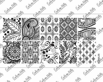 Nail stamping plate - EDMXL05