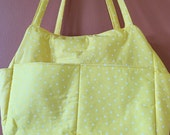 Tina 1600E  Bright Yellow Diaper Bag, Expanding and Self Standing, Tote, Totes, Extra Large, Purse, Purses, Shoulder Bag, Shoulder Bags
