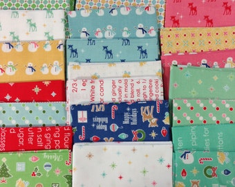 Cozy Christmas Fat Quarter Bundle Lori Holt Riley Blake Designs