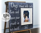 Pet Memorial Frame, Dog, Cat, Personalized Frame, Forever in our Hearts, 16x16 The Sugared Plums