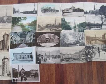 Danish Modern Postal History Collection of 20 Vintage Used Postcards Danmark Copenhagen Architecture Scrapbooking Ephemera Travel Journal 2