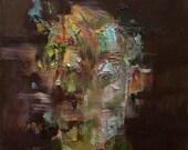 Herzog Head Study 2, Original Oil Painting