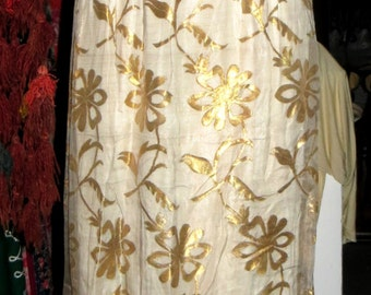 SALE Cate Blanchett at the Oscars 50s Gold Lame/Embroidered Silk------------------------------ Dress