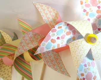 Pinwheels XL Size Extra Large Paper Pinwheels Party Favors Party Decoration Birthday Favors Baby Shower Decoration Wedding Table Centerpiece