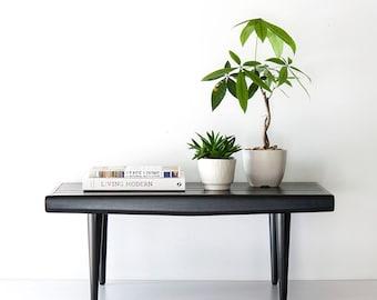 Vintage Mid Century Modern Slat Bench Table