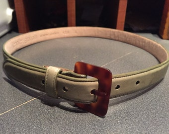 Ladies Belt/Green Belt/ Jennifer Graham/ Genuine Leather/Size Large/   By Gatormom13