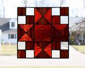 Stained Glass Suncatcher Ohio Trail Quilt Block