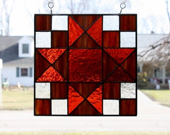 Stained Glass Suncatcher Ohio Trail Quilt Block