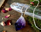 Sterling Amethyst Amulet- Psychic boost, Protection, Change