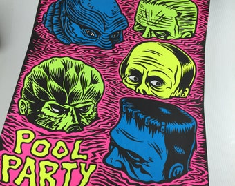 Pool Party Screen Print