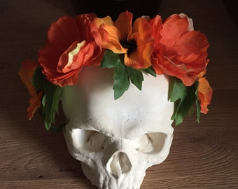 Halloween Flowers - headband