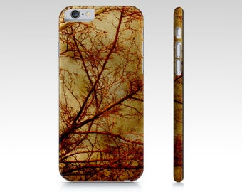 Gothic Phone Case - iPhone 5 5S 6 6S - Tree Phone Case - iPad Mini Cover - Samsung Galaxy S4 S5 - Textured Photography - Rust and Gold Photo