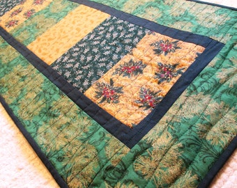 Quilted Winter Christmas Table Runner