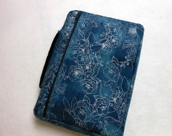 Bible Cover Denim Blue and Silver