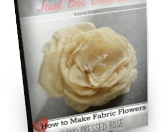 Fabric Flower Pattern - Fabric Flower - Tutorial Pattern - Hand Pressed Rose