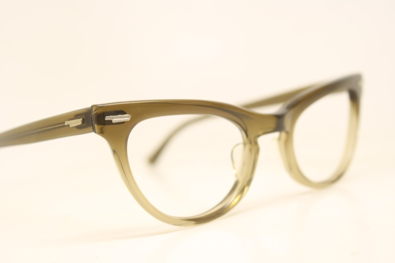 Glasses Frame Fading : NOS Brown Fade cat eye glasses vintage cateye frames