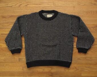 mens vintage LL Bean norwegian knit sweater