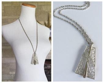 Crown Trifari Necklace * Vintage 1960s Modernist * Vintage Pendant Necklace