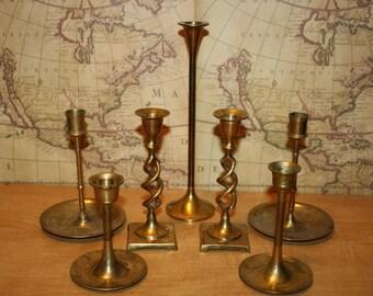 Brass Candlesticks - set of 7 - item #1999