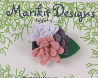 Marikit Designs Marikit Designs Felt Flower Hair Clip, Ready to Ship