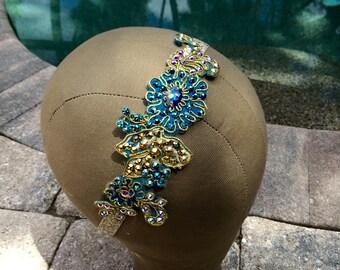 Turquoise Swarovski Crystal Headband
