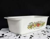 Vintage Corning Ware Spice of Life Loaf Pan P-315-B Meat Loaf, Bread Pan P-315-B